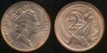 World Coins - Australia, 1988 Two Cents, 2c, Elizabeth II - Uncirculated
