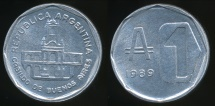 World Coins - Argentina, Republic, 1989 1 Austral - Uncirculated