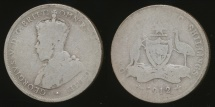 World Coins - Australia, 1912 Florin, 2/-, George V (Silver) - Well Circulated