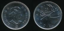 World Coins - Canada, Confederation, 2012 25 Cents, Elizabeth II - Uncirculated