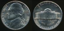 World Coins - United States, 1993-P 5 Cents, Jefferson Nickel - Uncirculated