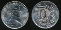 World Coins - Australia, 1983 Ten Cents, 10c, Elizabeth II - Choice Uncirculated