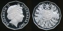 World Coins - Australia, 2007 Fifty Cents, 50c, Elizabeth II - Proof