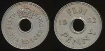 Fiji, Republic British Administration, 1952 Penny, 1d, George VI - Very Fine