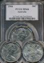 World Coins - Australia, 1984 Fifty Cents, 50c, Elizabeth II - PCGS MS66