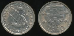 World Coins - Portugal, Republic, 1984 2-1/2 Escudos - Uncirculated