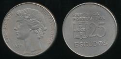 World Coins - Portugal, Republic, 1977 25 Escudos - Uncirculated