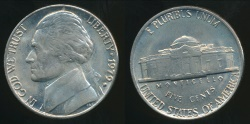 World Coins - United States, 1979-D 5 Cents, Jefferson Nickel - Uncirculated