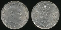 World Coins - Denmark, Kingdom, Frederik IX, 1968 5 Kroner - almost Uncirculated
