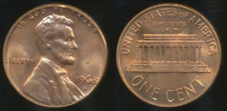 World Coins - United States, 1968-S One Cent, Lincoln Memorial - Choice Uncirculated