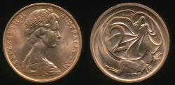 World Coins - Australia, 1981 Two Cents, 2c, Elizabeth II - Uncirculated
