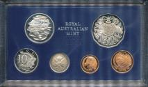 World Coins - Australia, 1980 Proof set of 6 coins Complete with foams and certificate
