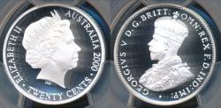 World Coins - Australia, 2000 Twenty Cents 20c George V (Silver) - PCGS PR69DCAM (Proof)