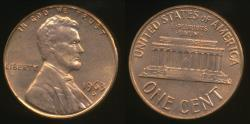 World Coins - United States, 1963-D One Cent, 1c, Lincoln Memorial - Uncirculated