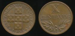 World Coins - Portugal, Republic, 1964 10 Centavos - Uncirculated