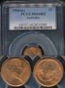 World Coins - Australia, 1966(m) One Cent, 1c, Elizabeth II - PCGS MS64RD