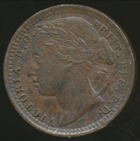 World Coins - Great Britain, Kingdom, 1878 1/3 Farthing, Victoria - almost Uncirculated