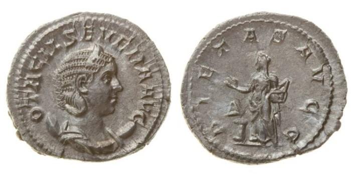 Ancient Coins - OTACILIA SEVERA, AR Antoninianus, AD 198-217, Rome mint (23mm, 3.12 gm) - RIC 115