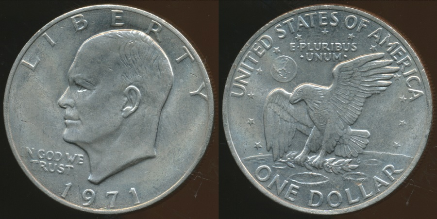 United States 1971 One Dollar Eisenhower Uncirculated