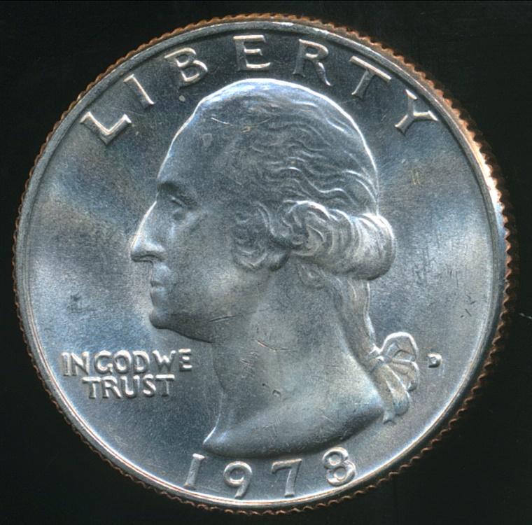 United States 1978 D Quarter 1 4 Dollar Washington