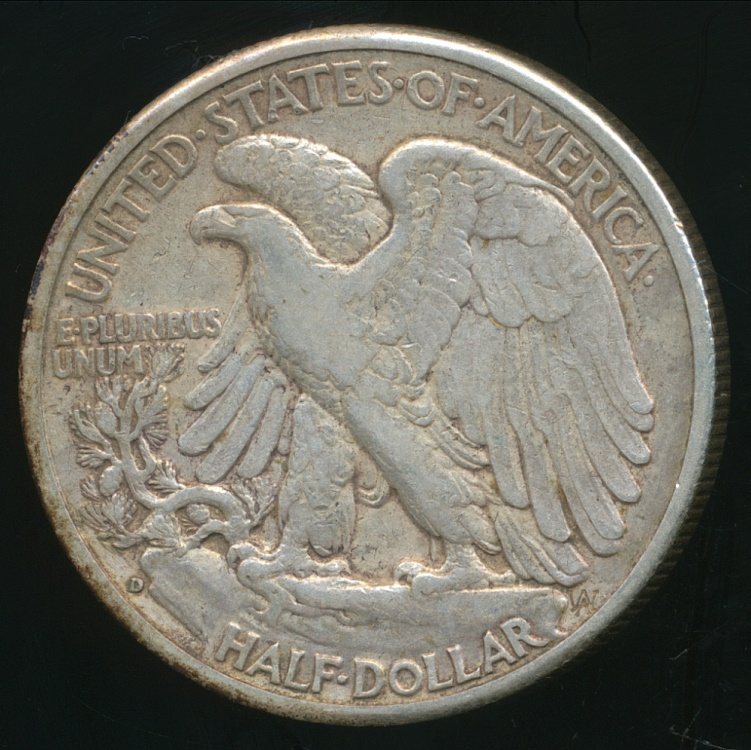 United States 1943 D Half Dollar Walking Liberty Silver