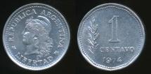 World Coins - Argentina, Republic, 1974 1 Centavo - Uncirculated