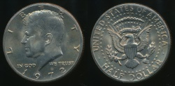 World Coins - United States, 1972 Half Dollar, Kennedy - Uncirculated