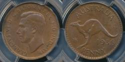 World Coins - Australia, 1938(m) One Penny, 1d, George VI - PCGS MS64BN (Ch-Unc)