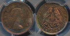 World Coins - South Africa, 1954 1/4 Penny, Elizabeth II - PCGS PR64RB (Proof)
