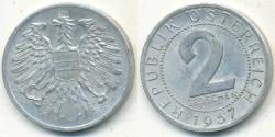 World Coins - AUSTRIA - 1957, 2 Groschen - KM# 2876