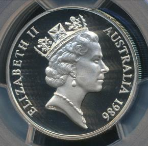 World Coins - Australia, 1986 Twenty Cents, 20c, Elizabeth II - PCGS PR69DCAM (Proof)
