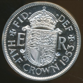 World Coins - Great Britain, Kingdom, 1953 Halfcrown, Elizabeth II - Proof