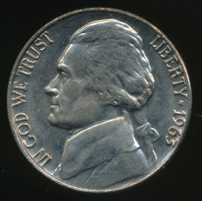 World Coins - United States, 1963-P 5 Cents, Jefferson Nickel - Uncirculated