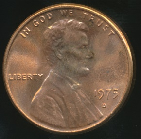 World Coins - United States, 1975-D One Cent, Lincoln Memorial - Uncirculated