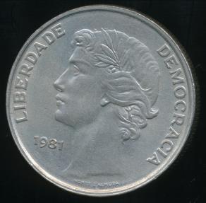 World Coins - Portugal, Republic, 1981 25 Escudos - Uncirculated