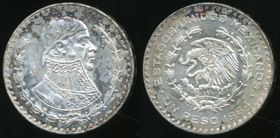 Mexico (MO) United States  city photo : World Coins Mexico, United States, 1964 Mo Peso Silver ...