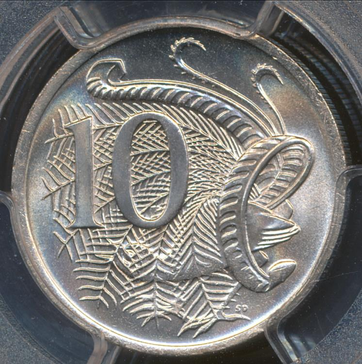 Australia 1966 C Canberra 5 Cents PCGS MS66 BU Coin Lusterous