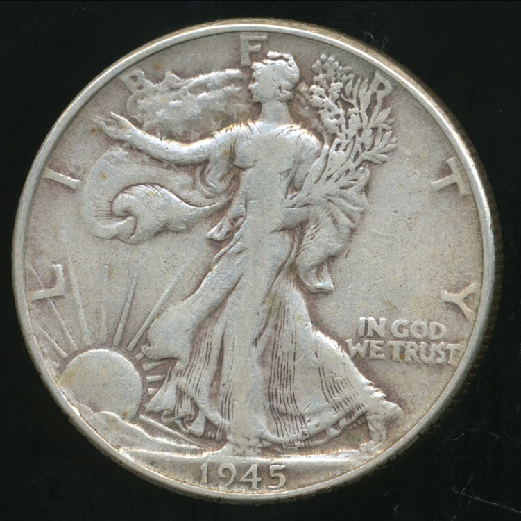 United States 1945 Half Dollar Walking Liberty Silver