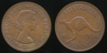 World Coins - Australia, 1956(m) One Penny, 1d, Elizabeth II - Uncirculated