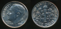 World Coins - United States, 1994-P Dime, Roosevelt - Uncirculated