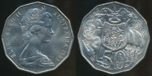 World Coins - Australia, 1983 Fifty Cents, 50c, Elizabeth II - Uncirculated