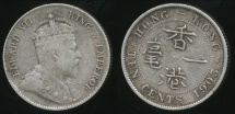 Hong Kong, British Colony, 1903 Ten Cents, 10c, Edward VII (Silver) - Very Fine