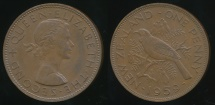 World Coins - New Zealand, 1959 One Penny, 1d, Elizabeth II - Extra Fine