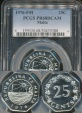 World Coins - Malta, Republic, 1976-M 25 Cents - PCGS PR68CAM