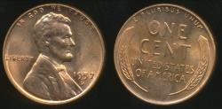 World Coins - United States, 1957-D One Cent, Lincoln Wheat - Uncirculated