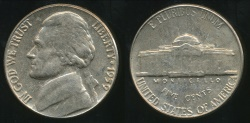 World Coins - United States, 1959 5 Cents, Jefferson Nickel - Uncirculated
