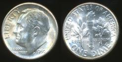 World Coins - United States, 1950-S Dime, Roosevelt (Silver) - Uncirculated