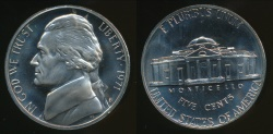 World Coins - United States, 1971-S 5 Cents, Jefferson Nickel - Proof