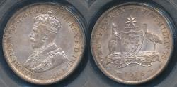 World Coins - Australia, 1916(m) Florin, 2/-, George V (Silver) - PCGS AU58 (aUnc)