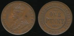 World Coins - Australia, 1923 One Penny, 1d, George V - Extra Fine